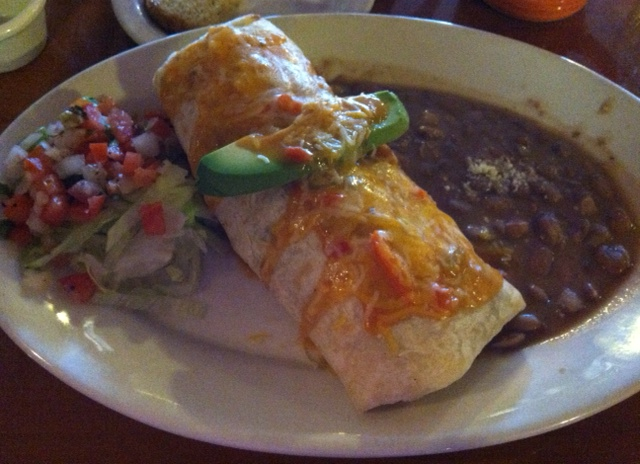 Breakfast Burrito from Bessie's Cafe